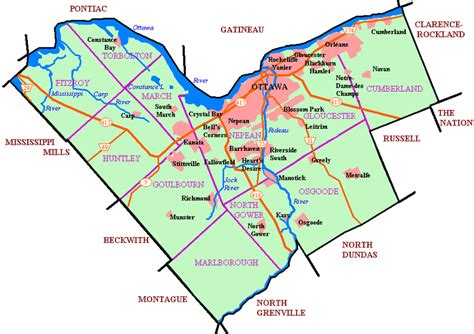 map of ottawa canada and surrounding area ottawa capital city of canada high