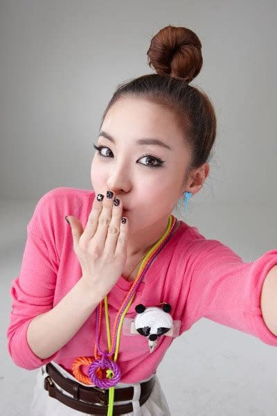 Arum Top In Black Dara 2ne1 try to follow me photos omo kpop