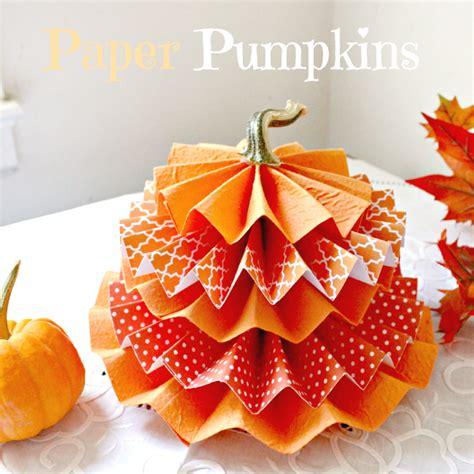 Paper Pumpkin Crafts - paper pumpkins crafts a la mode
