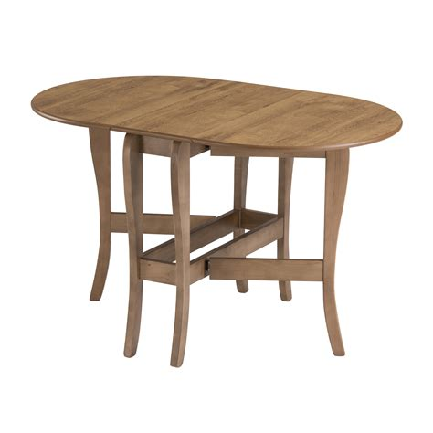 Drop Leaf Folding Dining Table Drop Leaf Table Heatproof Folding Dining Kitchen Gateleg Seats 6 Oval Warm Oak Ebay