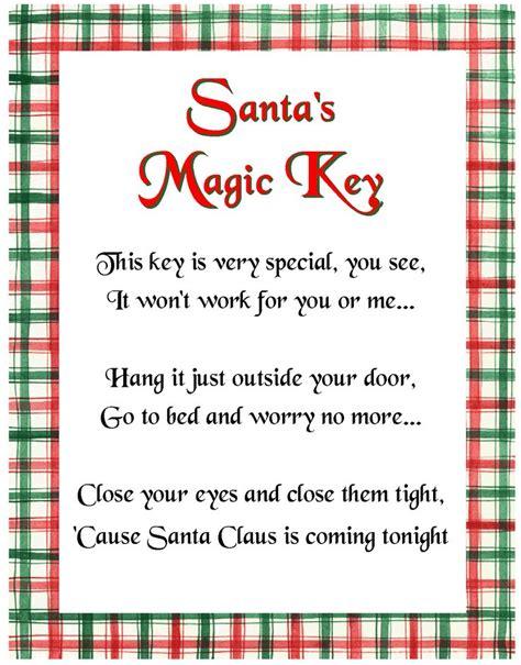 elf on the shelf magic key printable santa s magic key poem cute for if you don t have a