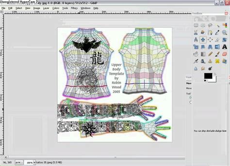 second templates for gimp gimp tutorials tattoos unto second
