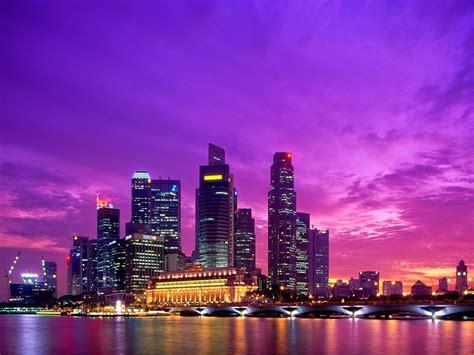 pc themes singapore hd city skyline panorama scene wallpaper 2015