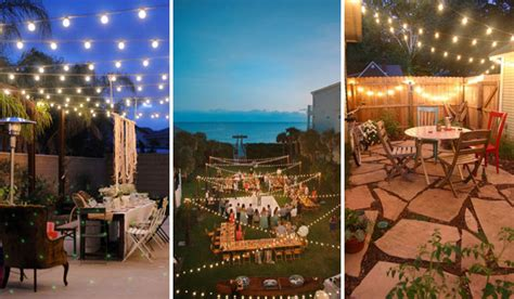 Outdoor Patio Lights Ideas Patio String Lights