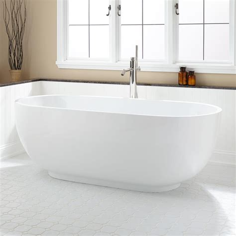 bathrooms with freestanding tubs 71 quot hazel acrylic freestanding tub bathtubs bathroom
