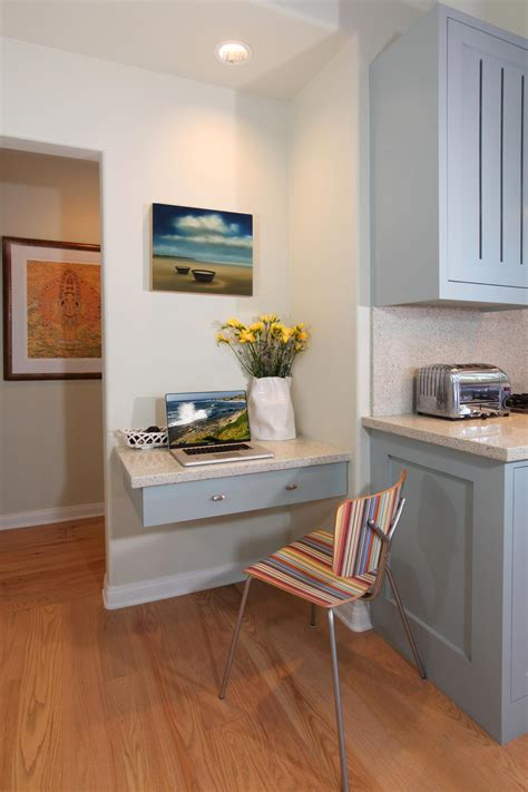 small kitchen desk photos hgtv