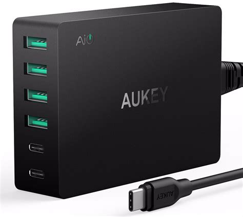 Aukey Charger Usb 2 Port Type C 2 4a Qc 3 0 Aipower Charging Hp aukey charger usb 4 port 2 port type c 60w qc3 0 aipower