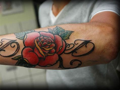 tattoo rose letters red letter and rose tattoo tattoomagz