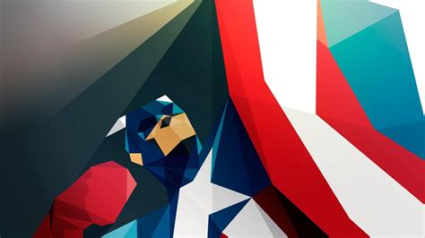 captain america abstract wallpaper 25 hd polygon wallpapers