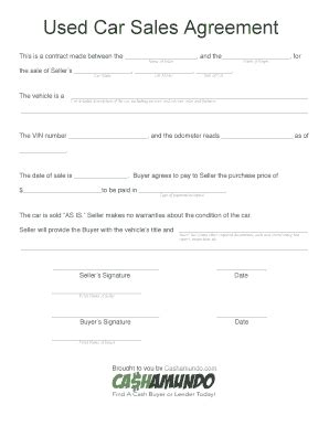 voetstoots sale agreement template printable vehicle purchase agreement fill