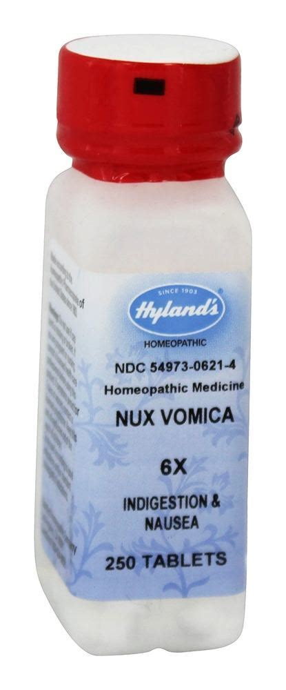 Nux Vomica And Detox Homeopathy by Buy Hylands Nux Vomica 6 X 250 Tablets At Luckyvitamin