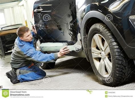 automobile car body stopping stock image image  auto