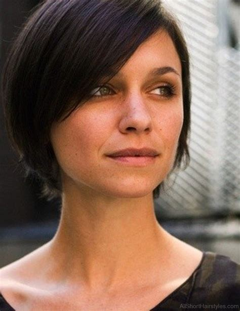 brunette hairstyles wiyh swept away bangs 75 appealing short side swept haircuts for girls