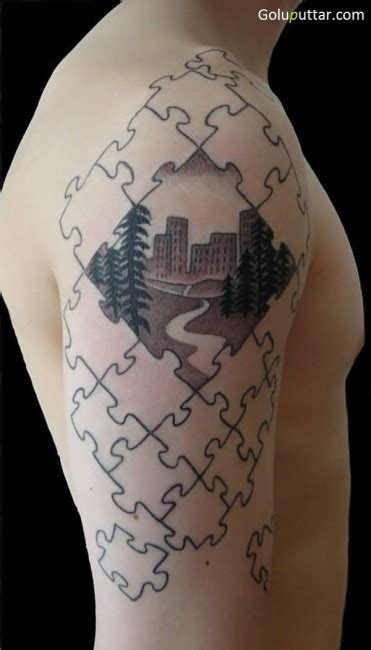 3d puzzle tattoo 3d puzzle tattoos pictures ideas