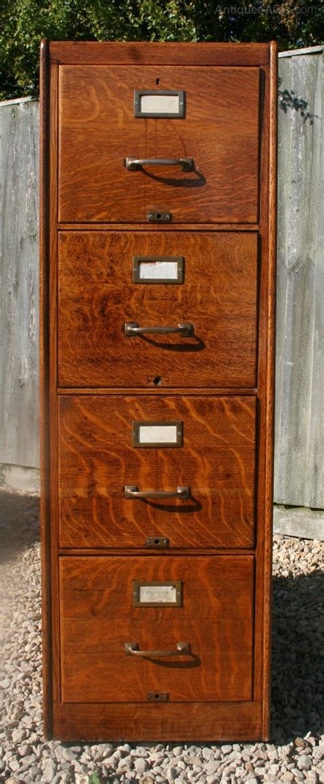 Antique Wood File Cabinet Vintage Oak Filing Cabinet Antiques Atlas
