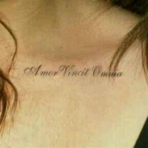 love conquers all tattoo my vincit omnia conquers all in