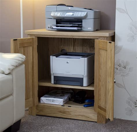 printer stand with storage cabinet kingston solid oak office computer furniture printer