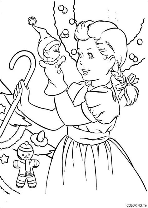 christmas coloring pages on coloring book info coloring page christmas girl playing with doll coloring me