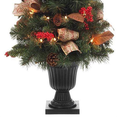 32 in natural pine potted artificial christmas tree with