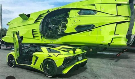 car boat for sale lamborghini aventador sv and matching speed boat for sale