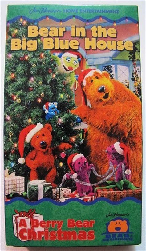 bear inthe big blue house christmas bear in the big blue house a berry bear christmas vhs video