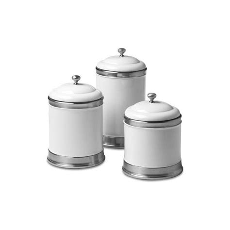 kitchen canister set of 3 featuring white ducks in tin williams sonoma williams ceramic canisters set of 3 100