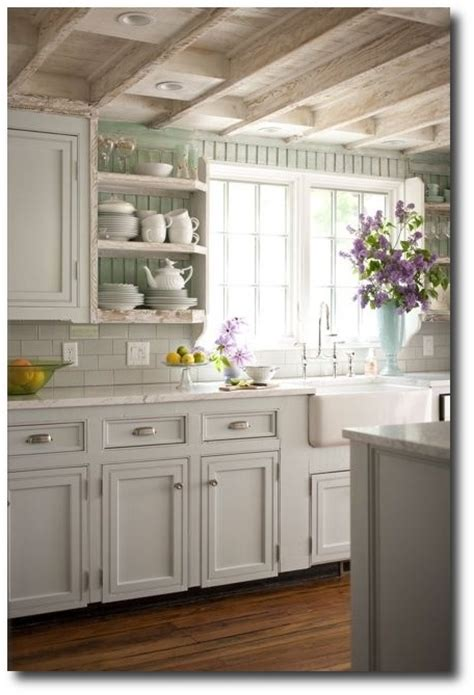 White Kitchen Cabinet Hardware Ideas Molly Frey Design Stunning Cottage Kitchen Design With Beadboard Backsplash White Shaker