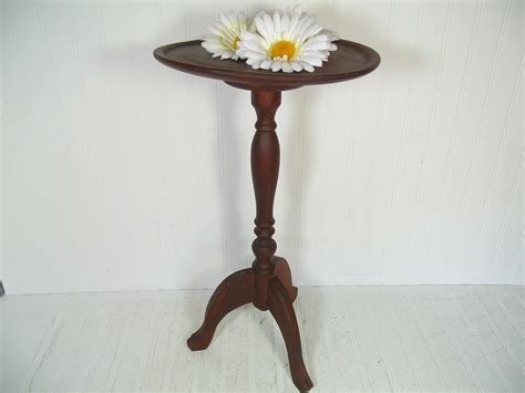 Candle Table by Antique Wood Candle Stand Table Vintage Carved Wooden