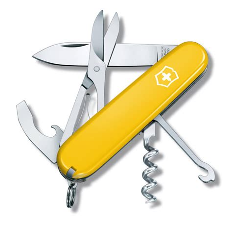 Swiss Army Knife 11 Tools 3011 30 compact yellow swiss army knife