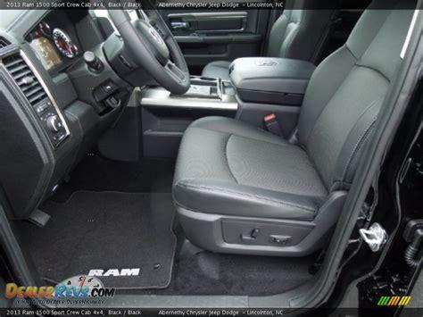 black interior 2013 ram 1500 sport crew cab 4x4 photo 8