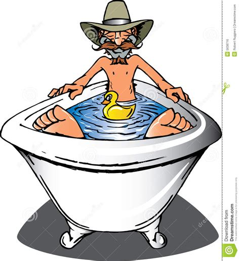 Bathtub Clip Art Cowboy Bath Royalty Free Stock Image Image 5638716