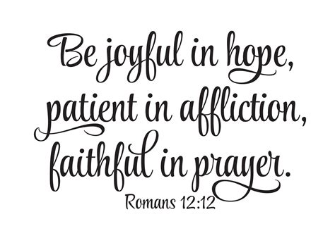 Be Joyful romans 12 12 vinyl wall decal be joyful in patient in