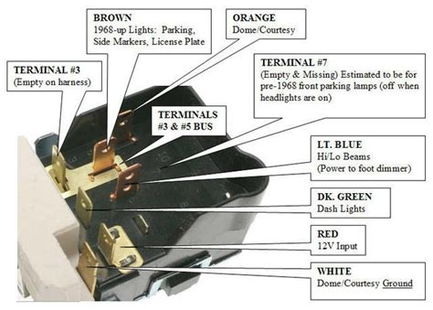 headlight switch wiring diagram fuse box and wiring diagram