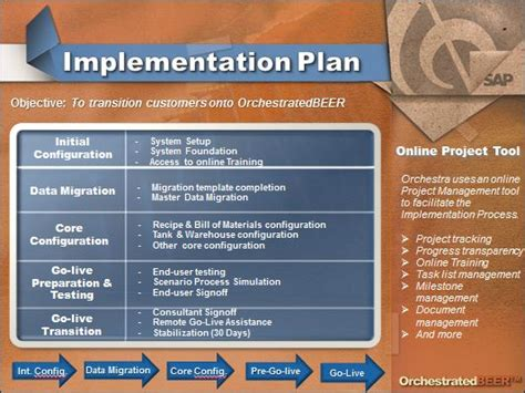 erp project implementation plan template the transition from quickbooks to brewery software
