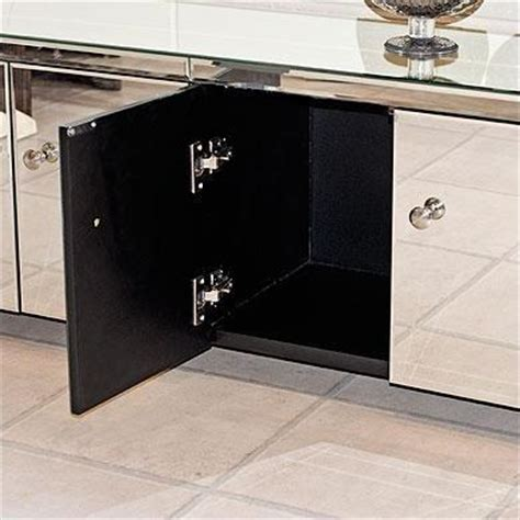 Low Tv Cabinet With Doors by Low Mirrored 4 Door Tv Entertainment Cabinet From House