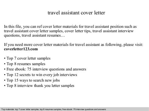 Travel Clerk Cover Letter by Travel Assistant Cover Letter