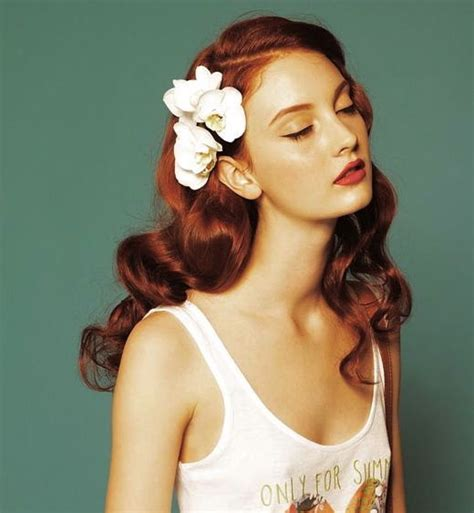 red hair 40s 25 best ideas about flowers in hair on pinterest