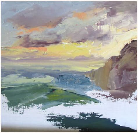palette knife seascape painting demonstration