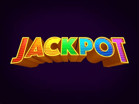 jackpot by jackpot text by ensor dribbble