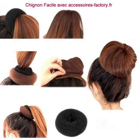 hair styles using a donut chignon a faire seule