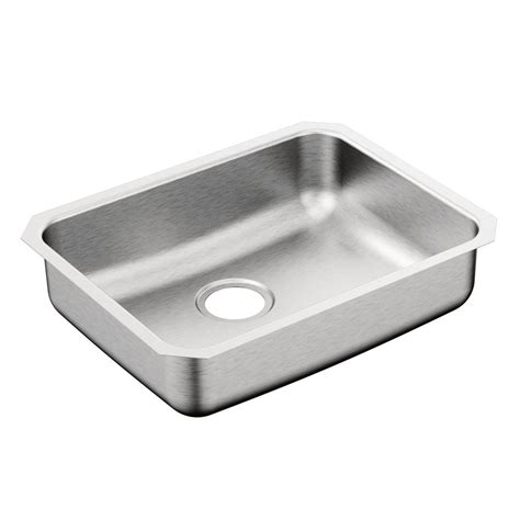 Moen Kitchen Sinks Moen 2000 Series Undermount Stainless Steel 23 In Single Basin Kitchen Sink G20194b The Home