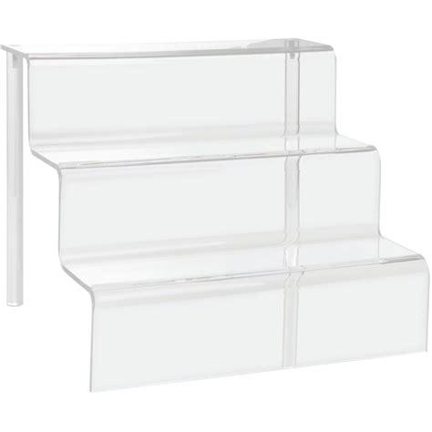 Acrylic Display Shelf With Stairway Design Acrylic Display Shelves