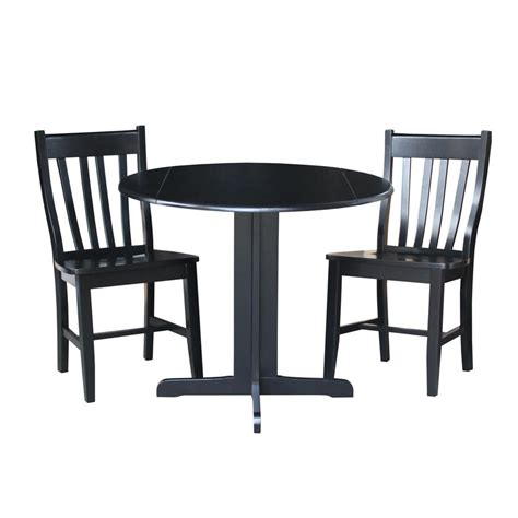 1000 images about 3 piece dining sets on pinterest cherry kitchen how to paint and virginia international concepts 3 piece black dining set k46 36rp c