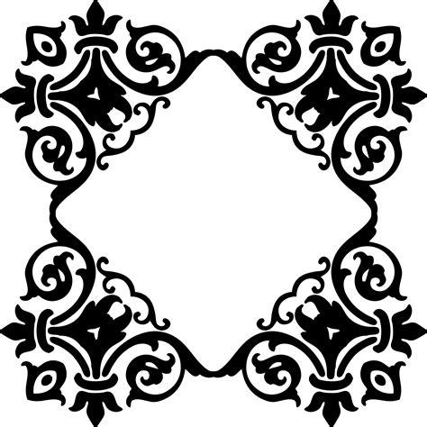 damask pattern frame clipart damask frame