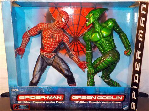 spiderman vs goblin film ita 12 inch spider man vs green goblin action figures toy biz