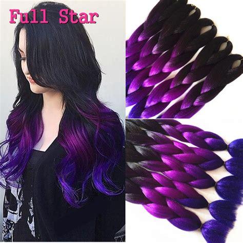 dark purple braiding hair 1 10pcs 24 quot 100g crochet braids hair full star black