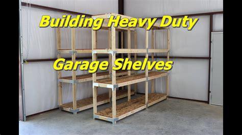garage shelves plans building heavy duty garage shelves