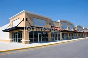 Shopping center with available retail space stock photo thinkstock
