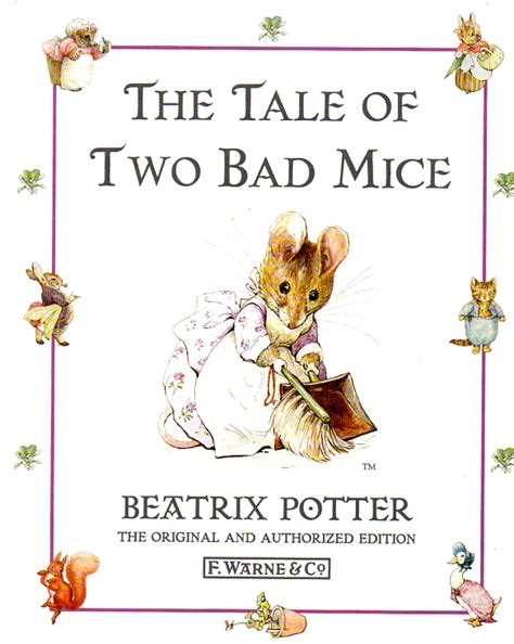 a by any other name tale of two books the tale of two bad mice beatrix potter gloss hardback