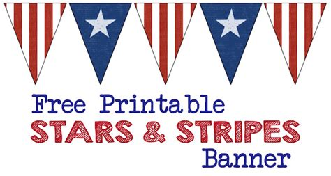 printable american flag stars stars and stripes banner free printable paper trail design